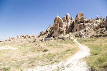 Cappadocia. Cliffs with caves inside the National Park of Goreme