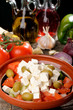 Traditional Greek salad with feta cheese