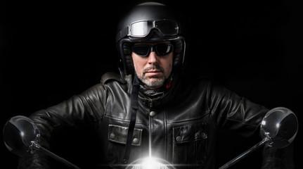 Motard et moto