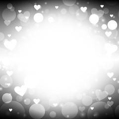 Heart shape black background