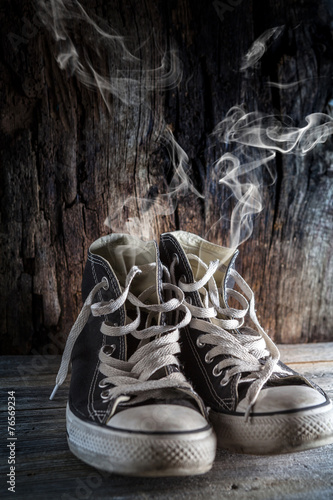canvas print picture it's time to change shoes