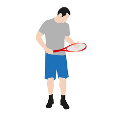 Vector drawing tennis players