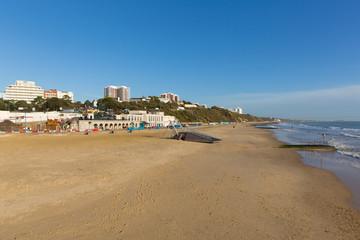 Sandy beach Bournemouth Dorset England UK