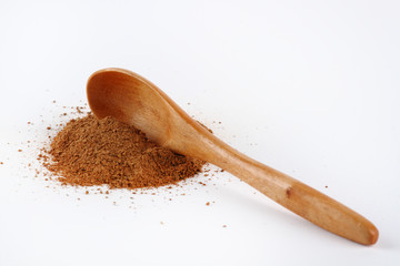 Wooden spoon in cinnamon