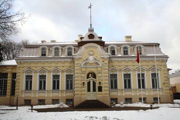 Building in winter