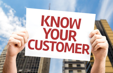 Know Your Customer card with a urban background