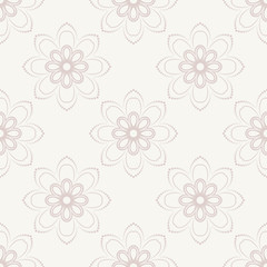 Floral Seamless Vector Pattern. Orient Abstract Pink Background