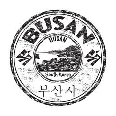 Busan grunge rubber stamp