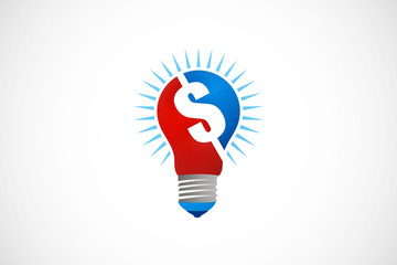 dollar light bulb logo