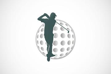 golfer ball logo