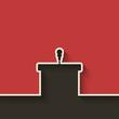 podium with microphone - 76577404