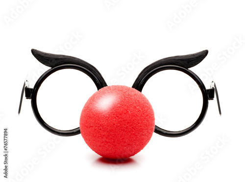 Fotobehang Carnaval Faschingsnase mit Brille