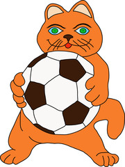 Cat with ball.