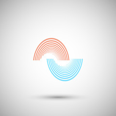 The twirl elements of a simple design