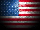 american flag grunge background - 76581000