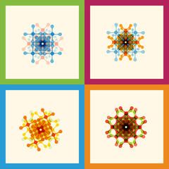 Set color molecule creative design pattern eps