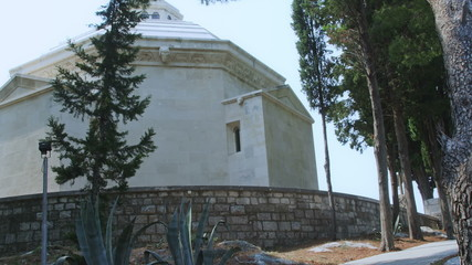 Old traditional cemetery with mausoleum in Cavtat