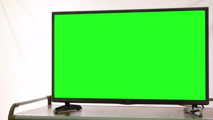 Modern HDTV With Green Screen