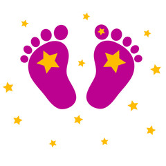 Baby feet with stars