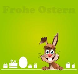 Grüne Osterkarte