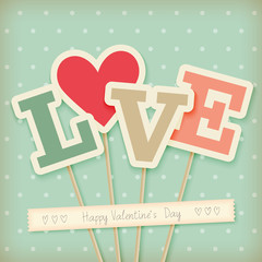 Valentine`s day card - scrapbook style.