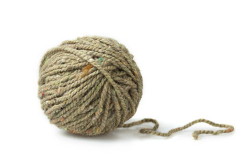 single melange ball of yarn