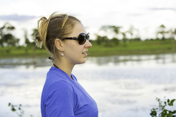 ourist appreciate the view of Mato Grosso in the Pantanal