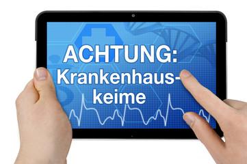 Tablet mit Interface und Krankenhauskeime