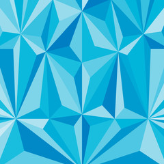 Faceted effects, blue background, pattern of the triangles