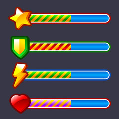 Energy progress, loading game bar set