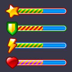 Energy progress, loading game bar set