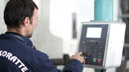 data entry into  computerized  industrial machine