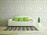 Fototapety Interior room with sofa
