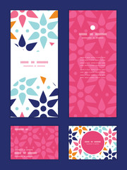 Vector abstract colorful stars vertical frame pattern invitation