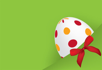 Easter eggs tucked in your pocket background with ribbon
