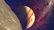 Fototapete Raum - Mond - Luftaufnahmen