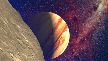 Jupiter planet moon asteroid space