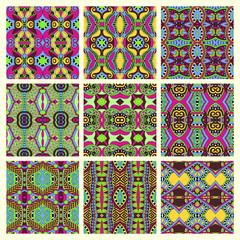 seamless colored vintage geometric pattern