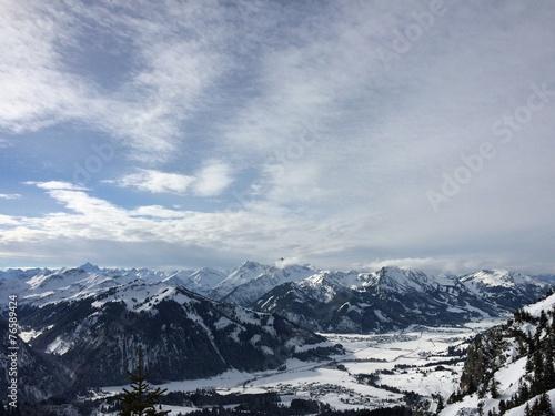 canvas print picture Alpenblick