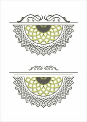 decorative element rosette mandala