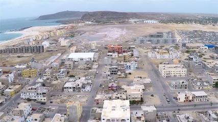 Aerial view of Sal Rei city in Boavista Cape Verde - Cabo Verde