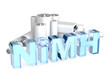 Постер, плакат: NiMH — Nickel metal hydride accumulator battery