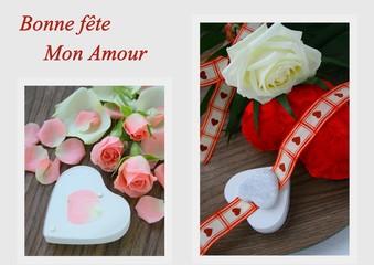 bonne fête mon amour ,composition de st valentin