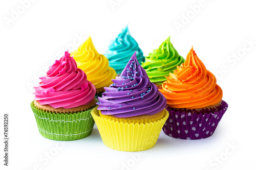 Colorful cupcakes - 76592250