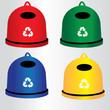 kontenery, segregacja, recykling
