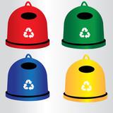 kontenery, segregacja, recykling - 76592478