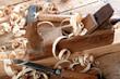 Leinwanddruck Bild - Holzhobel