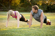 Couple exercising - 76592830