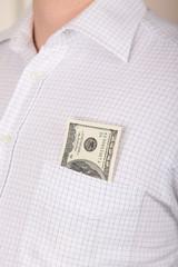 Dollars in a pocket
