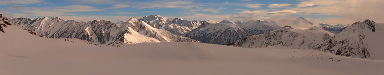 Snow panorama. Pyrenees. Catalonia
